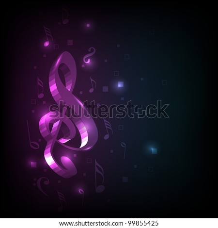 Abstract  colorful shiny musical notes or wave background. EPS 10, can be use as flyer, banner or poster for disco parties and other events. - stock vector