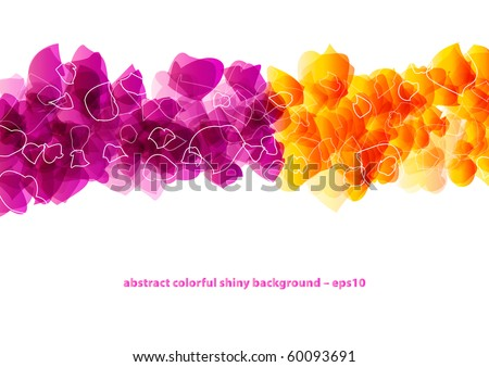 Abstract colorful shiny purple and orange background design (eps10) - stock vector
