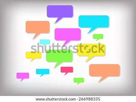 Abstract colorful speech background, Vector illustration - stock vector