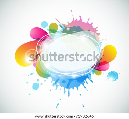 Abstract colorful speech bubble - eps10 - stock vector