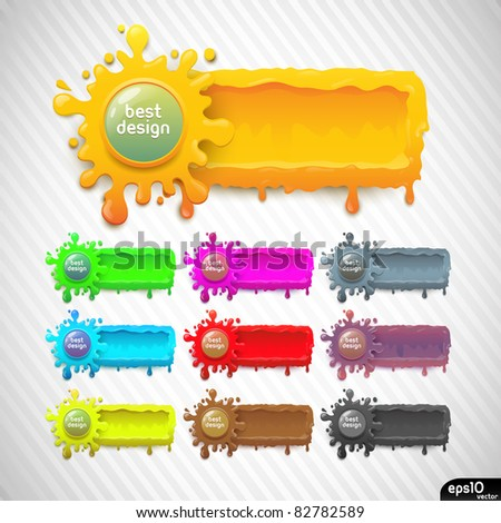 Abstract colorful speech bubble (vector set) - stock vector