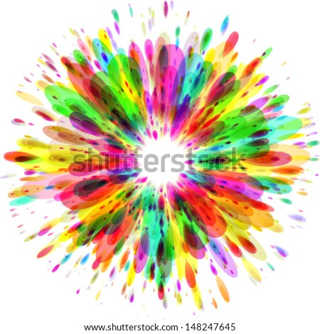abstract colorful splash background - stock vector