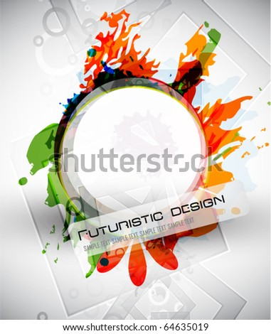Abstract colorful splatters vector background - stock vector