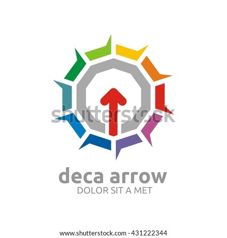 Abstract Colorful Star Arrow Icon Symbol Stock Vector 431222344
