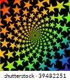 abstract colorful stars whirl design - stock photo