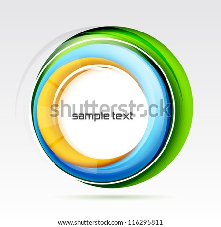 Abstract colorful swirl design - stock vector