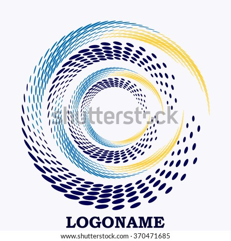 Abstract colorful swirly illustration logo design.
