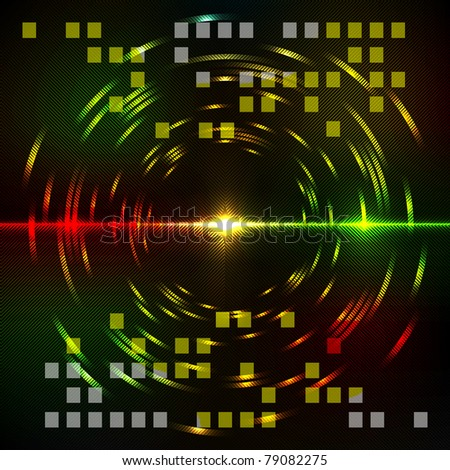 Abstract colorful techno background. Vector illustration. - stock vector
