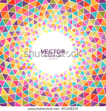Abstract colorful triangle background with place for your content. Easy to change colors. Vector illustration for banner, poster, flyer, card, postcard, cover, brochure. - stock vector