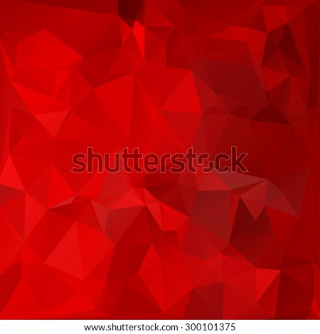 Abstract colorful Triangle Geometrical Red Background, Vector Illustration EPS10. Geometric design for business presentations. - stock vector