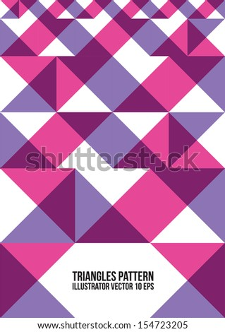 Abstract Colorful Triangle Pattern.  Background , Cover , Layout , Magazine, Brochure , Poster , Website , Name card , etc. - stock vector