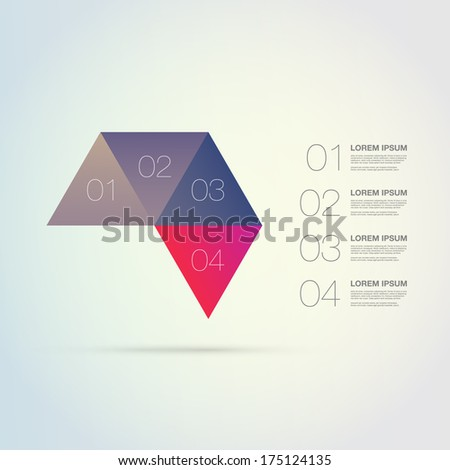 Abstract colorful triangles infographic template for your business presentation with text and numbers  Eps 10 vector illustration  - stock vector