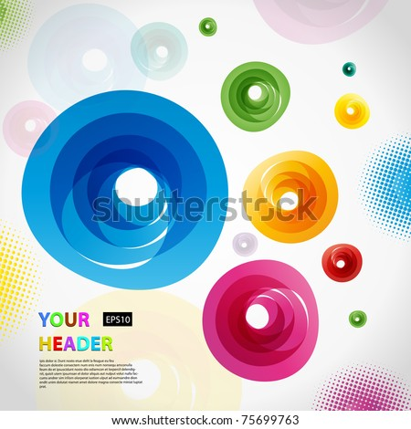 Abstract colorful vector background. - stock vector