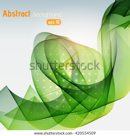 Abstract colorful vector background. Green color.