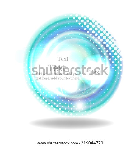 Abstract colorful vector background with ripple on the water effect and halftone - stock vector