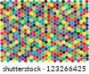 abstract colorful vector background with symmetrical hexagonal combs - stock vector