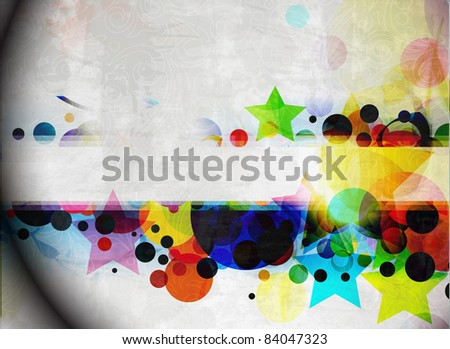 Abstract colorful vector banner design. - stock vector