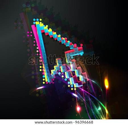 abstract colorful vector computer, mouse symbol. - stock vector