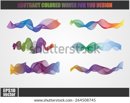 Abstract colorful vector waves or smoke for your design