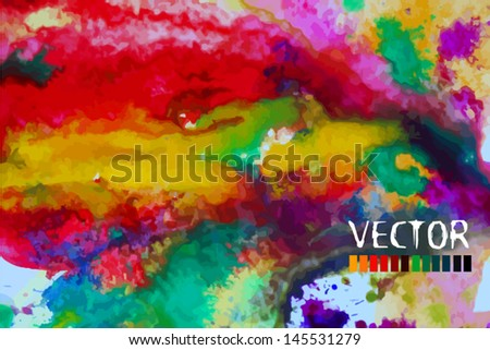 abstract colorful watercolor background - stock vector