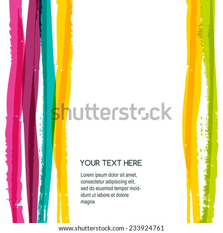 Abstract colorful watercolor stripe background. Vector illustration.