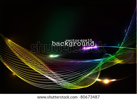 abstract colorful wave background, Eps10 Vector illustration.