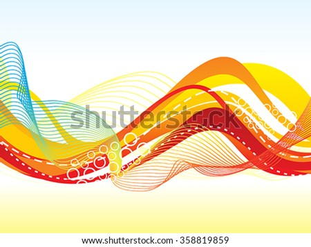abstract colorful wave background vector illustration - stock vector