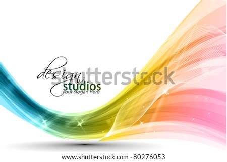 Abstract colorful wave background. Vector. illustration - stock vector