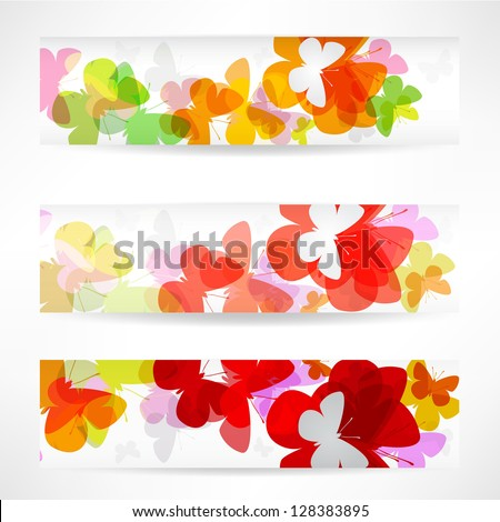 abstract colorful wave business card set design - stock vector