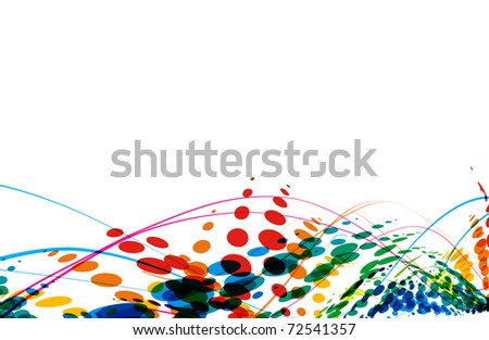 abstract colorful wave line with space of your text, vector illustration - stock vector