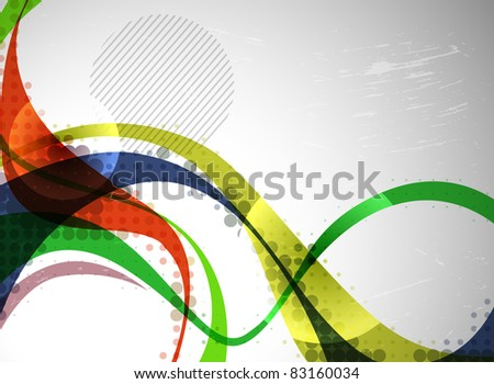abstract colorful wave, vector background - stock vector