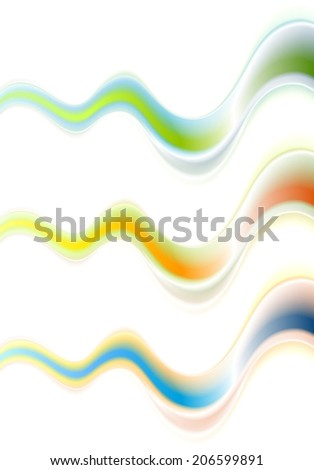 Abstract colorful waves modern background. Vector design