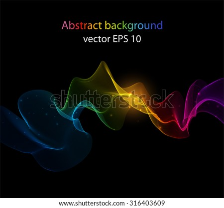 Abstract colorful waves. The colors of the rainbow - stock vector