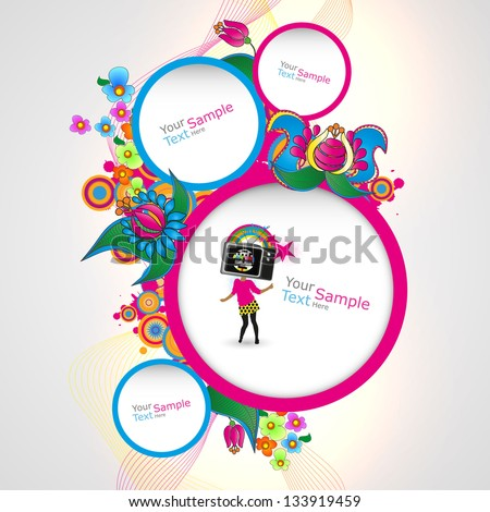 abstract colorful website template - stock vector