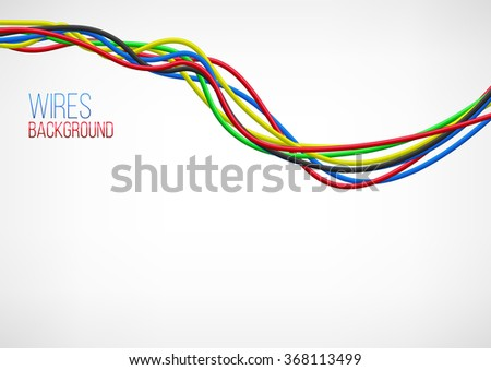 Abstract Colorful Wire Background. Vector Illustration - stock vector