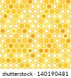 Abstract colorful yellow honeycomb seamless pattern, vector - stock