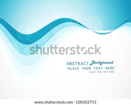 abstract colorfull blue wave vector background - stock vector