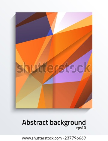 Abstract colorfull triangular vector design  for brochures, web sites, and backgrounds - stock vector