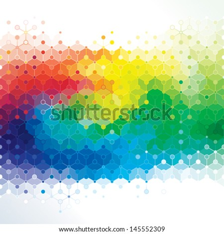 Abstract colors background of DNA molecule structure. - stock vector