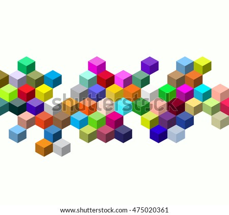 Abstract colors vector cube