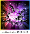 Abstract Colorul Music Event Background for Discotheque Flyers - stock vector