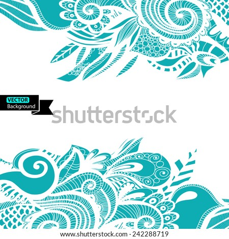Abstract colour shape pattern. Vector illustration. EPS - stock vector