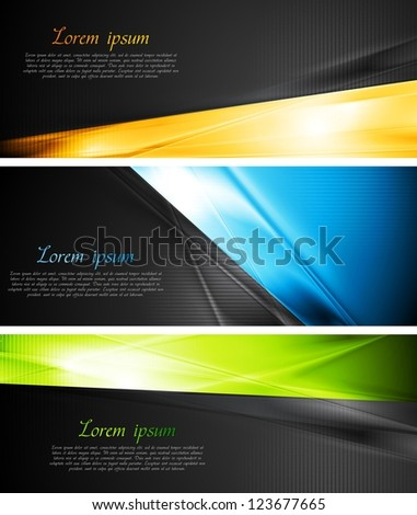 Abstract colourful banners. Vector design eps 10 - stock vector