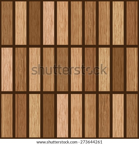 Abstract column wooden texture, Vector illustration wood plank, Realistic wooden texture with boards, seamless pattern background. - stock vector