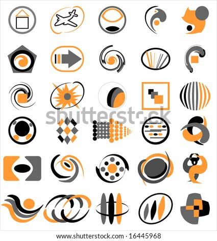Abstract company logo set - stock vector