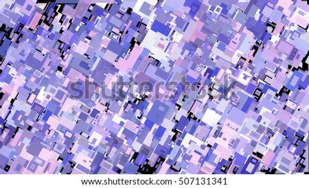 Abstract complex pattern consisting of rectangles of different sizes and colors