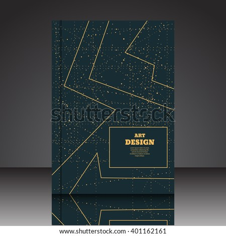 Abstract composition A4 brochure background eps10 vector illustration 11 - stock vector