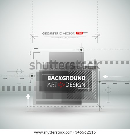 Abstract composition, black, white square construction, light static picture, sturtup display, figure theme, sign texture surface, business backdrop, title sequence, screen saver, EPS10 illustration - stock vector