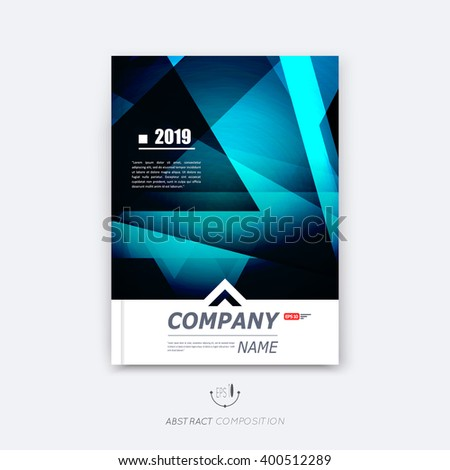 Abstract composition, blue polygonal texture, triangle part construction, line plexus, a4 brochure title sheet, creative figure icon, sapphire crystal facets, diamond surface, banner form, flyer font - stock vector