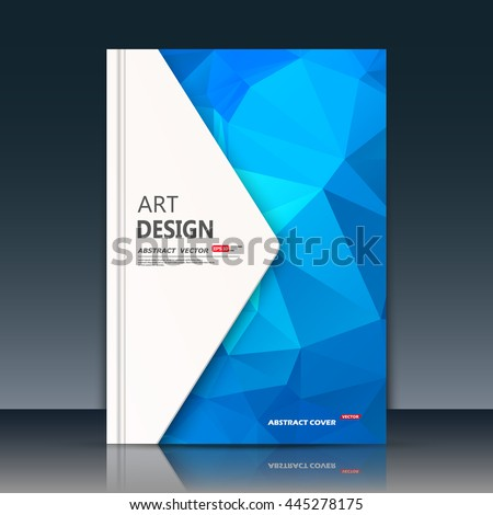 Abstract composition. Blue sapphire construction. White triangle section trademark. A4 brochure title sheet. Creative figure logo icon. Commercial offer banner form. Ad flyer fiber. Headline element. - stock vector